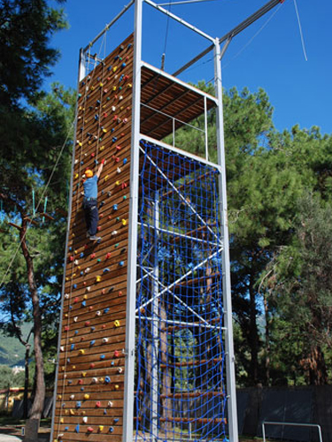 Monkey Park Adventure Activities Climbing Wall 1